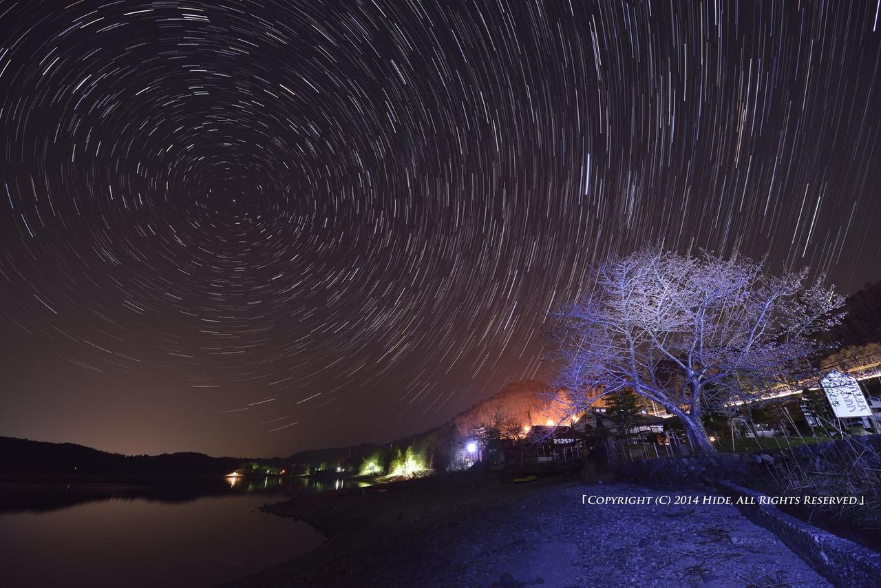 夜の青木湖