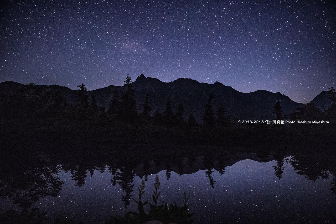 深夜の鏡池
