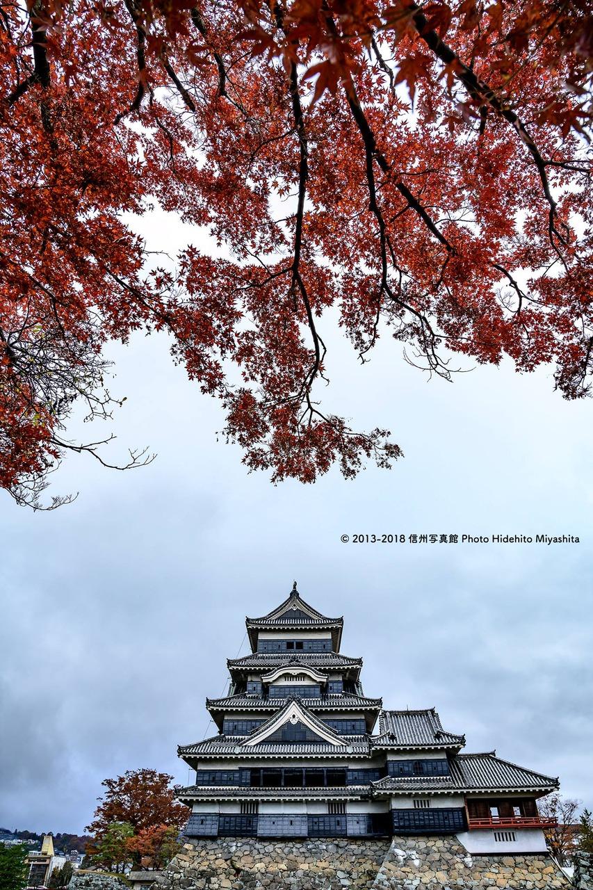 秋景松本城