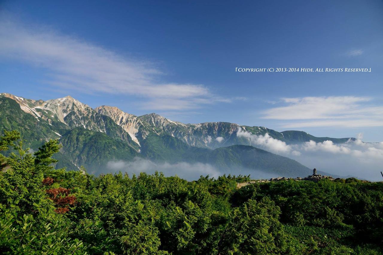 白馬三山を見ながら