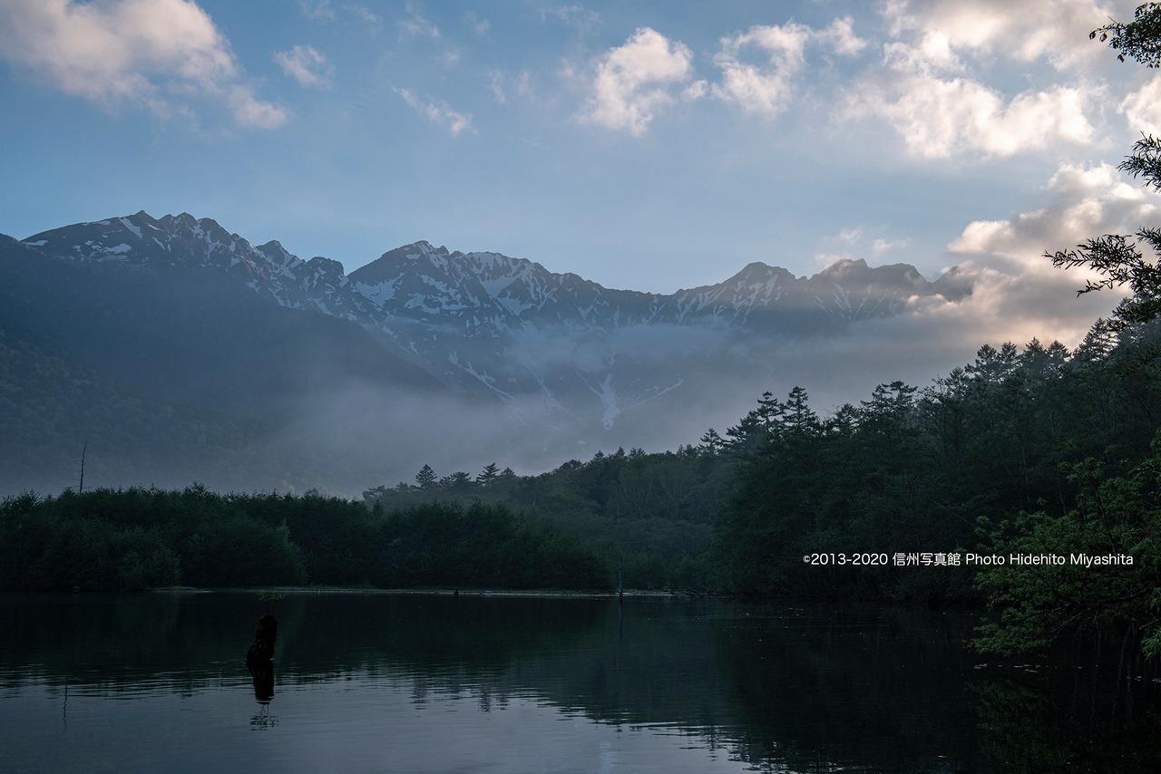 朝の大正池