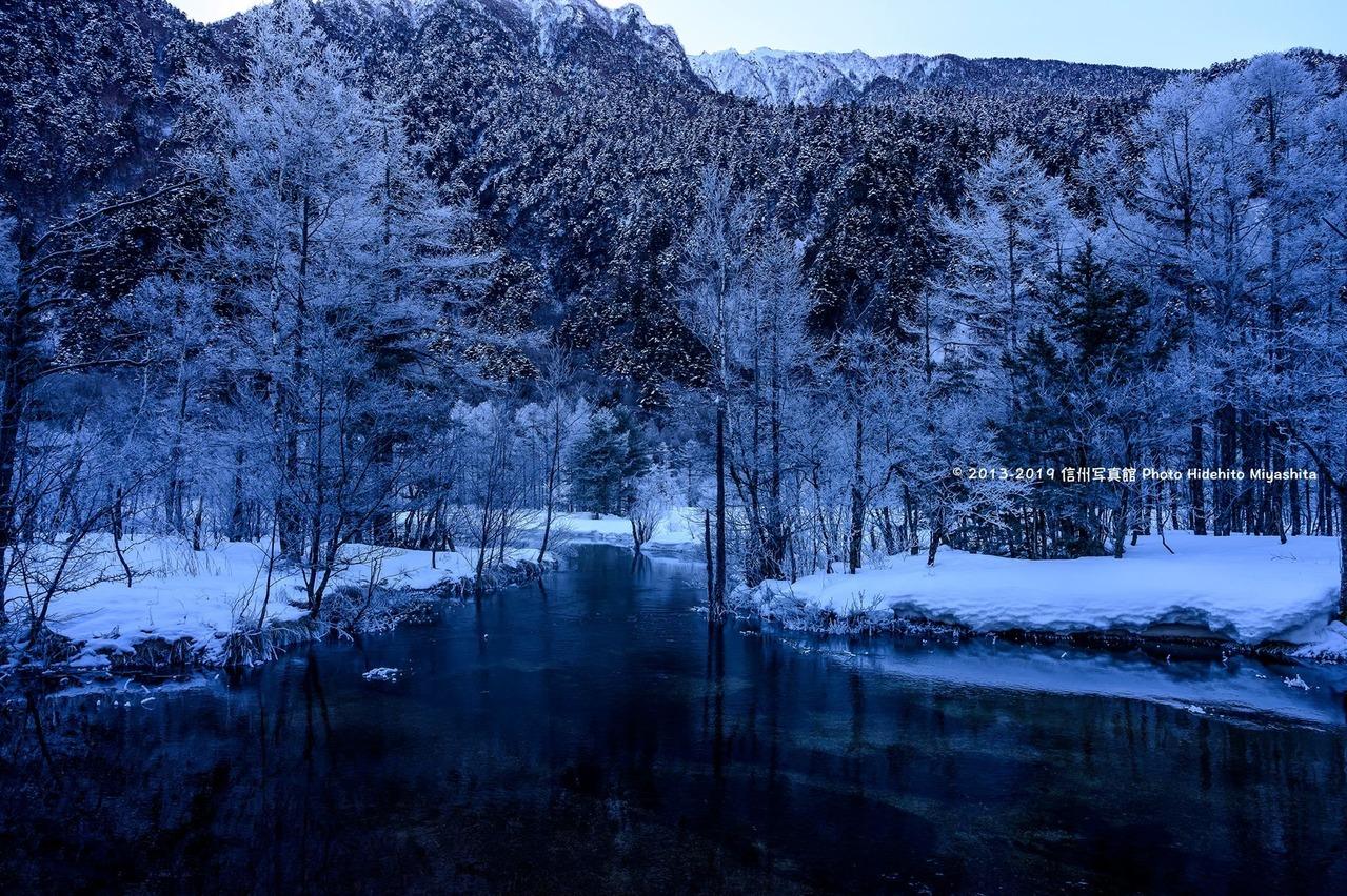 日出る前の田代池