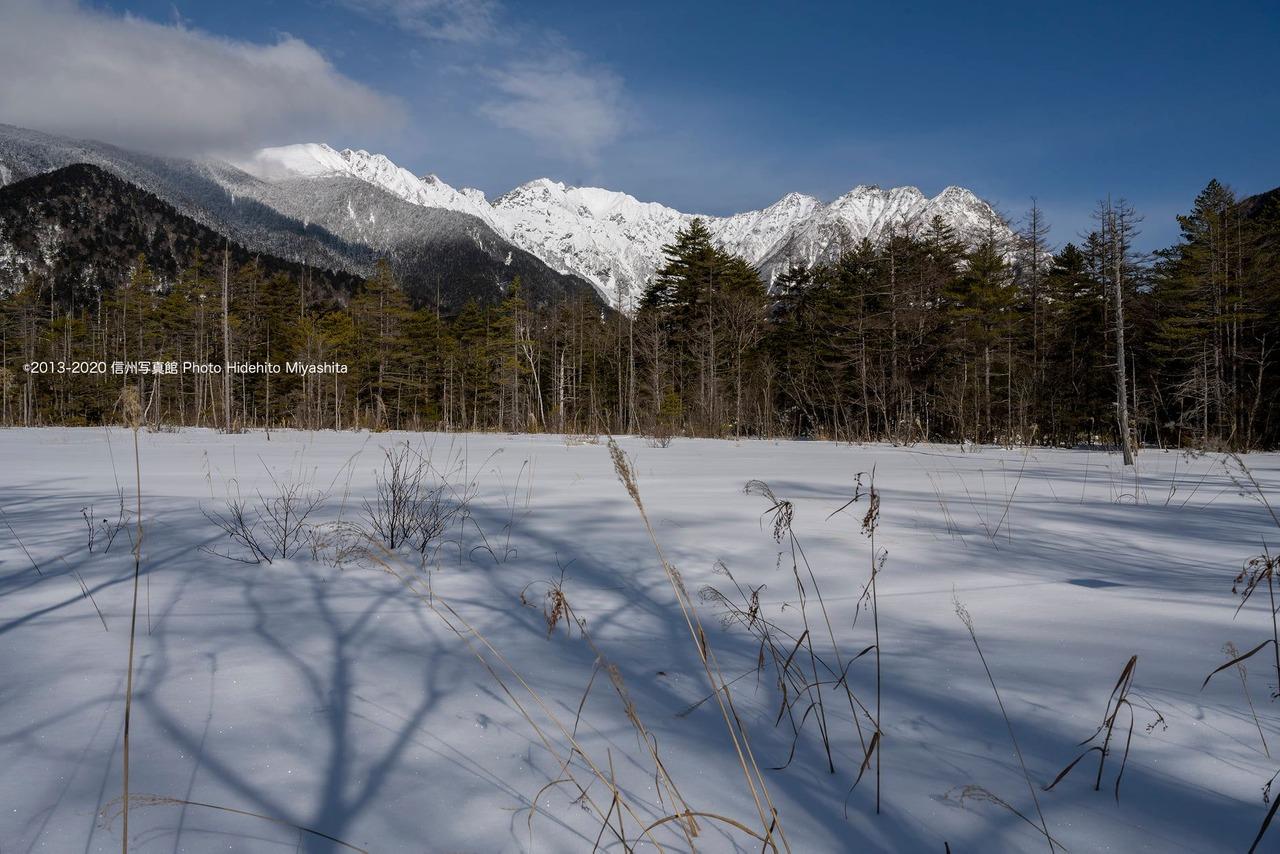 雪深い田代湿原