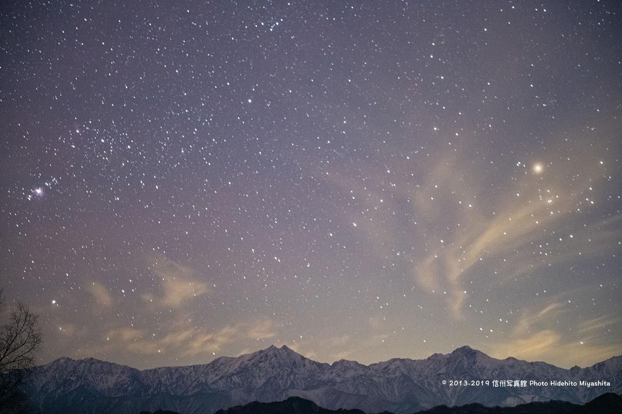 夜の仁科三山