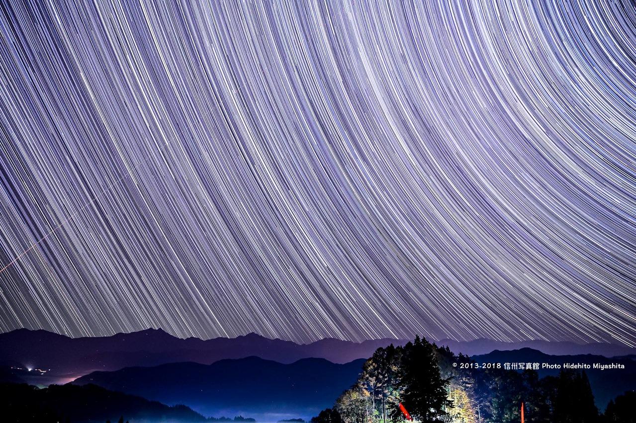 星々と後立山連峰