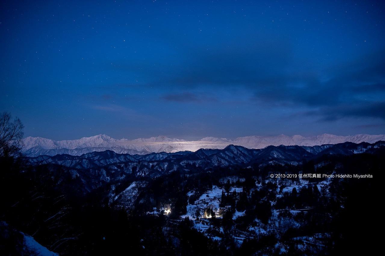 夜明け前の後立山連峰
