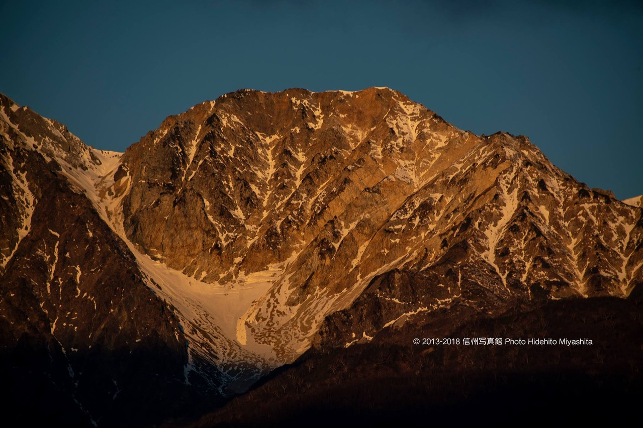 輝く杓子岳