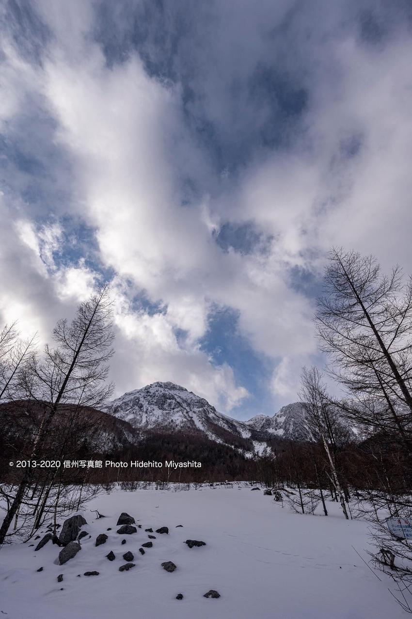 焼岳・冬景