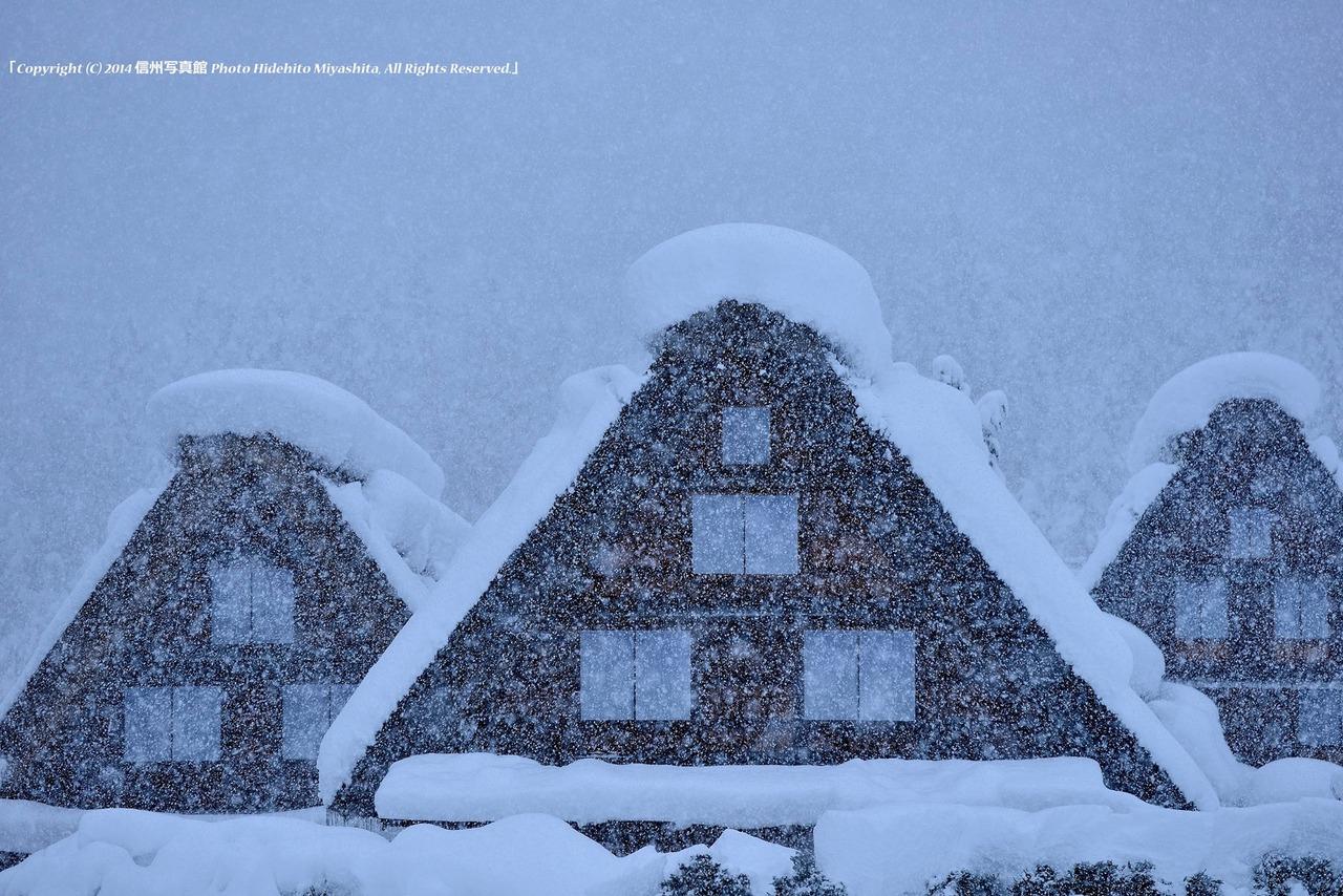 降りしきる雪の日