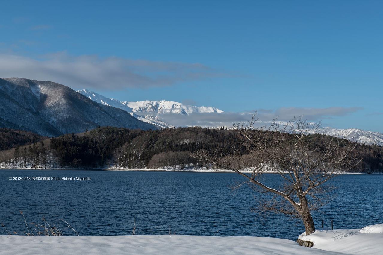 青木湖にて