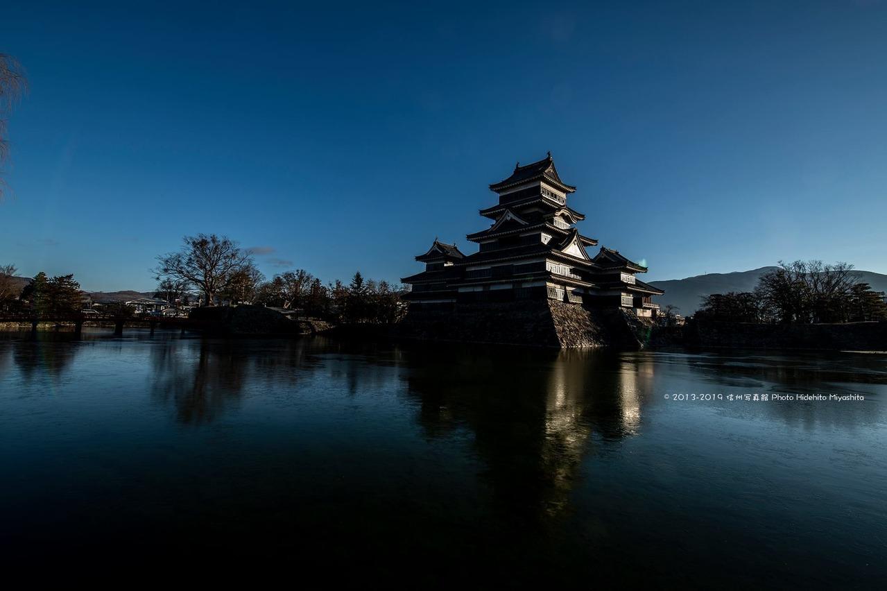 今年初の松本城