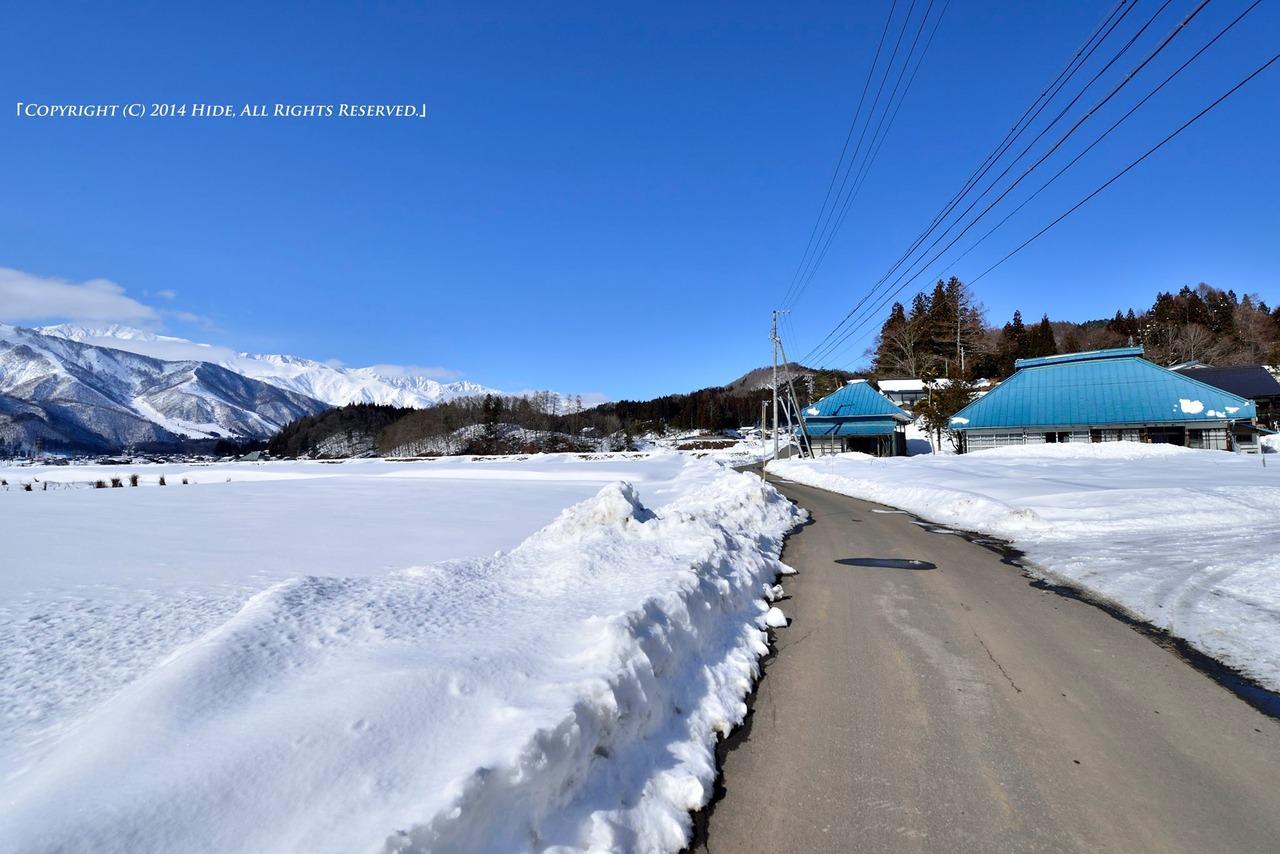 冬の農村風景