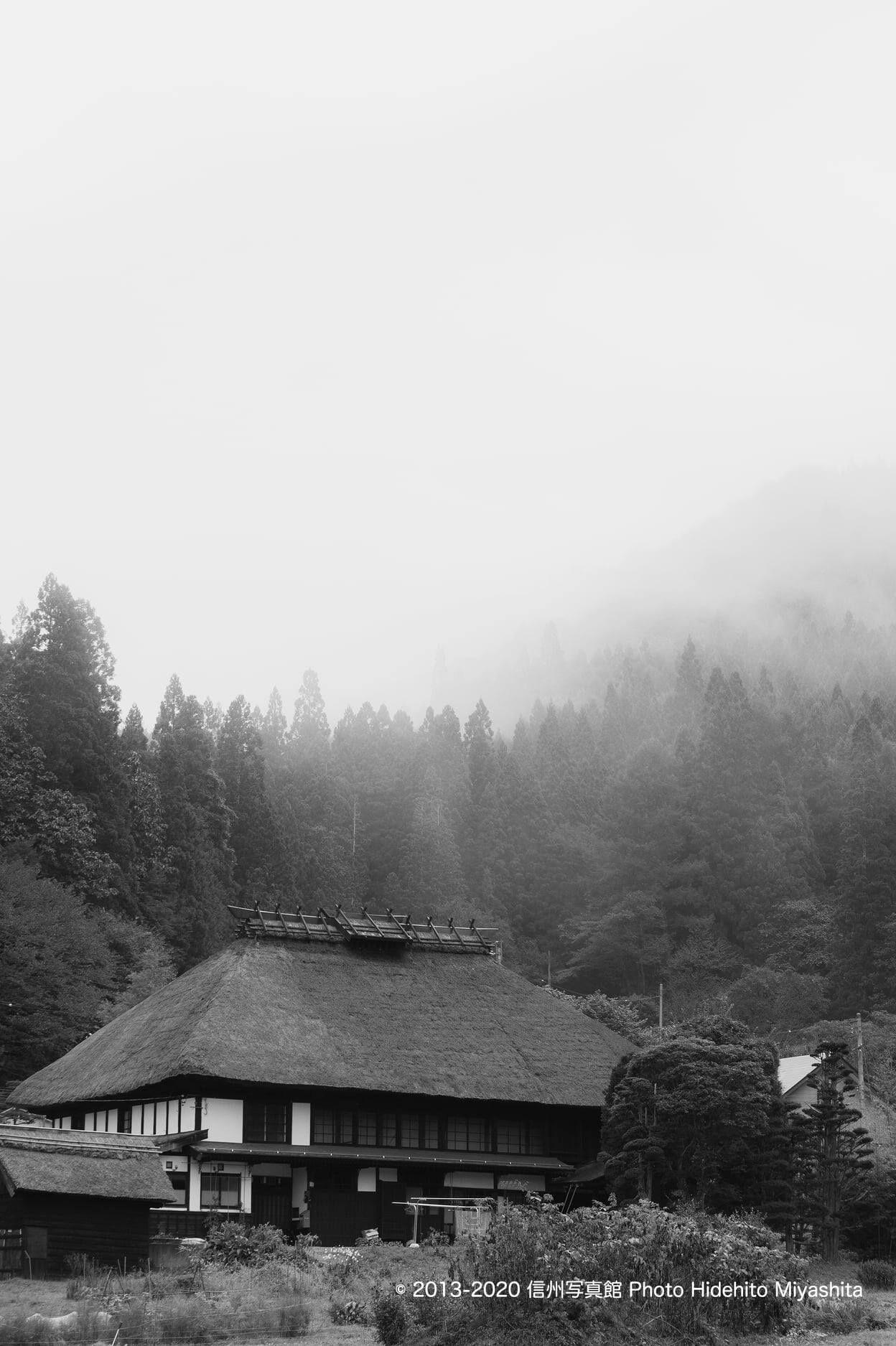 深い霧の朝
