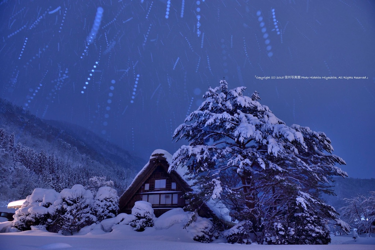 和田家に降る雪