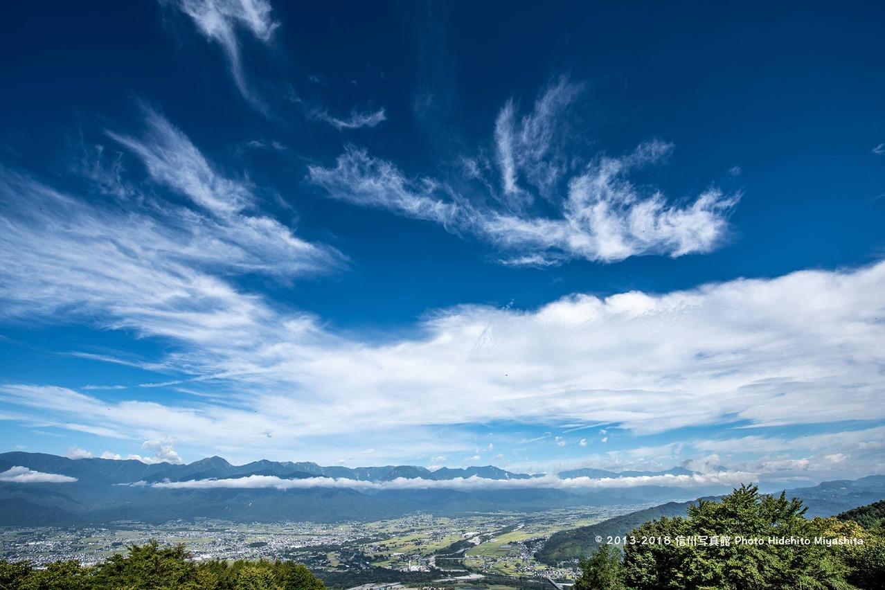 青く高い空
