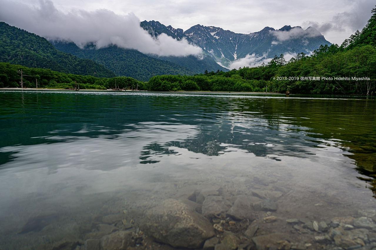 梅雨の大正池