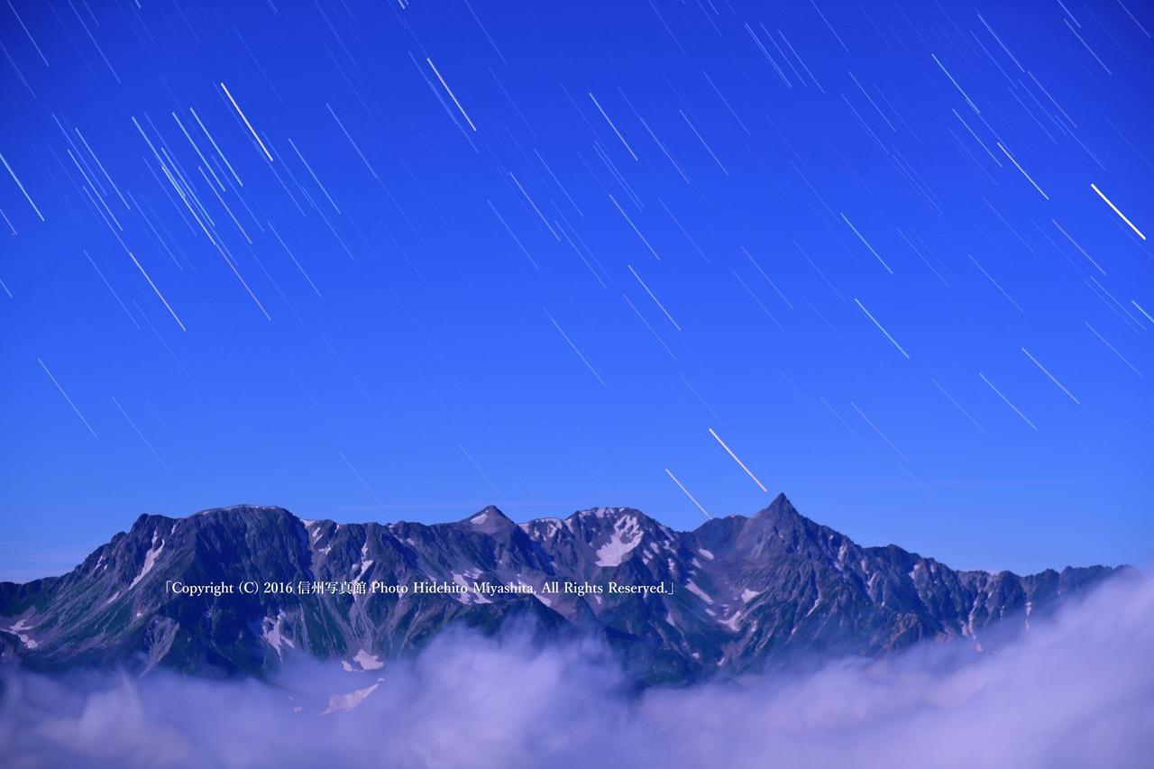 槍ヶ岳に降る星