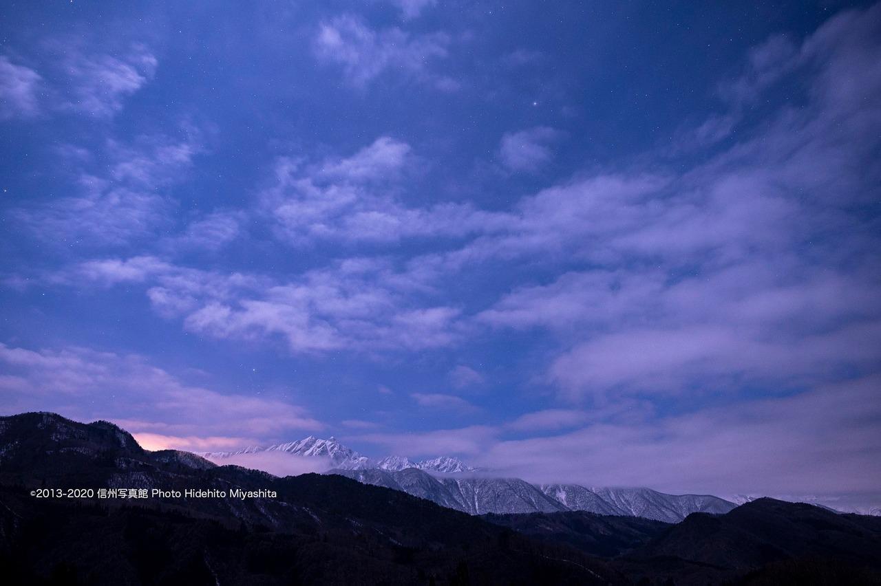 夜の鹿島槍ヶ岳