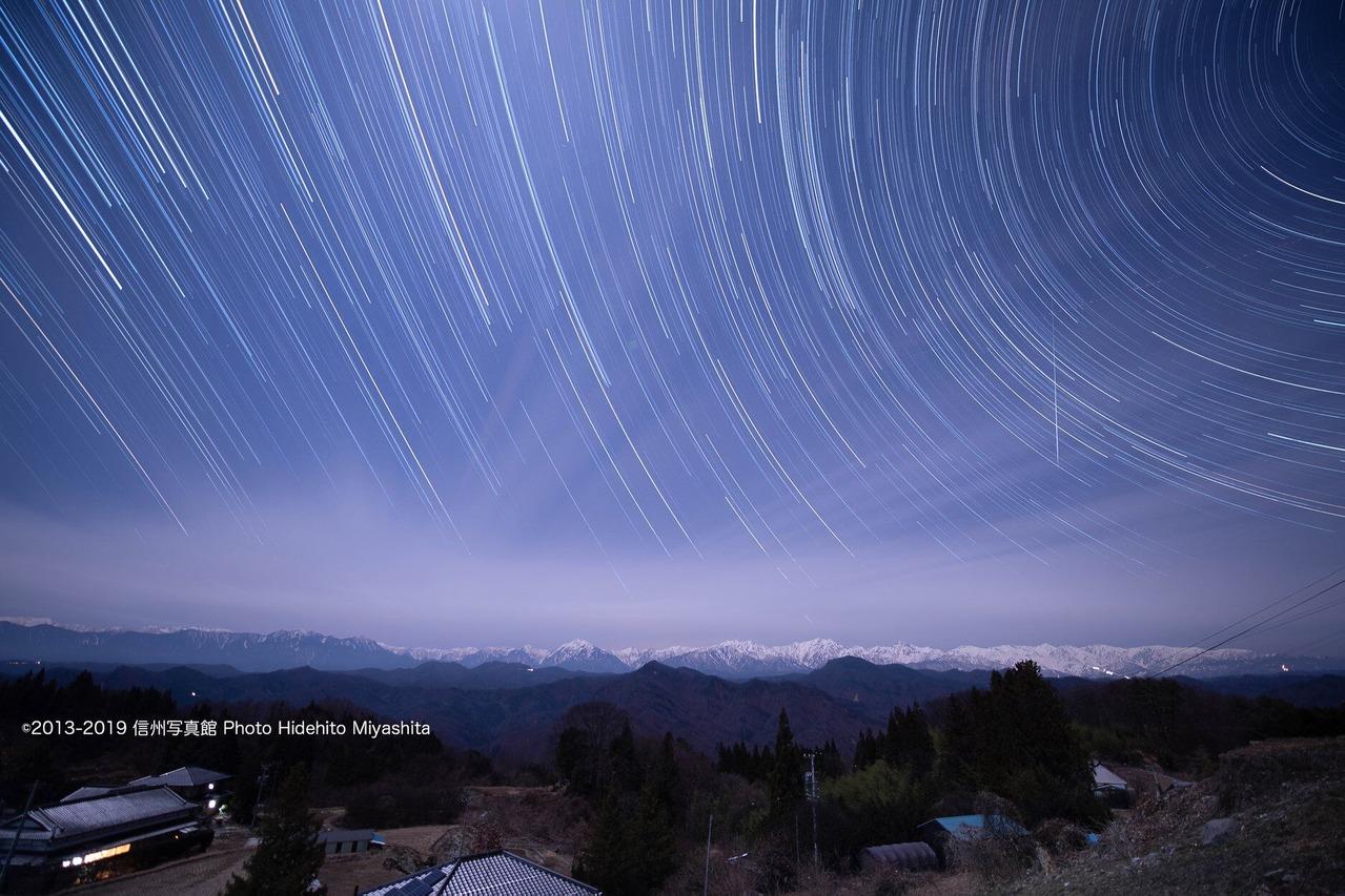 ふたご座流星群と後立山連峰
