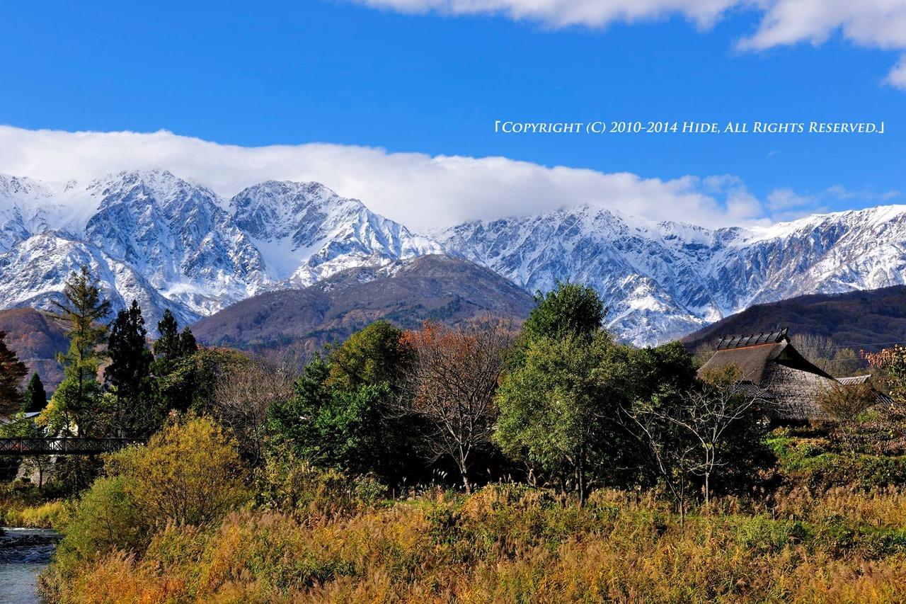 雪化粧の白馬三山