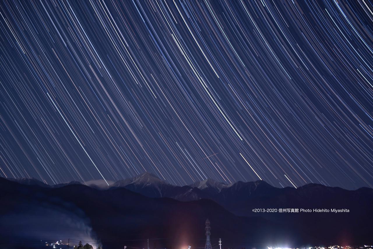 常念岳に沈む星々_20200201-_DSC5612