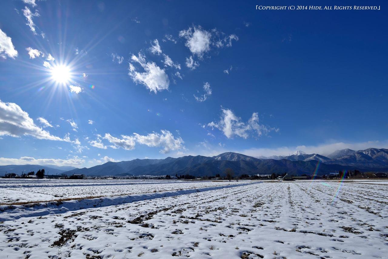 冬の安曇野より