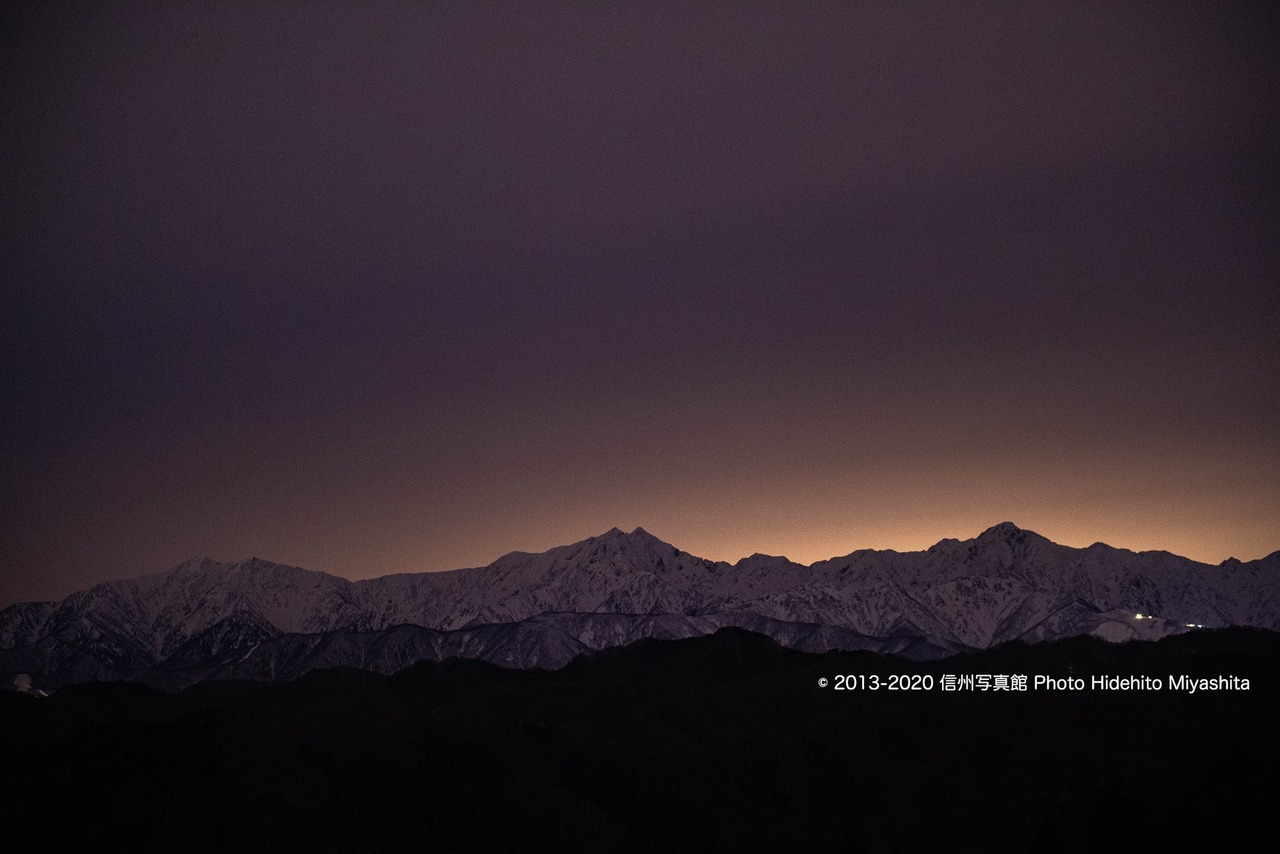 深夜の仁科三山