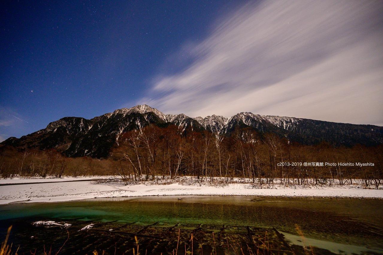 夜の六百山と霞沢岳