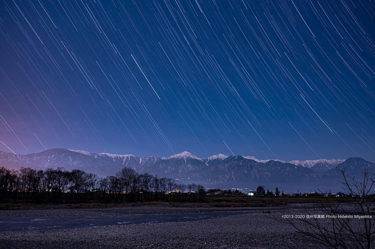 夜の常念山脈