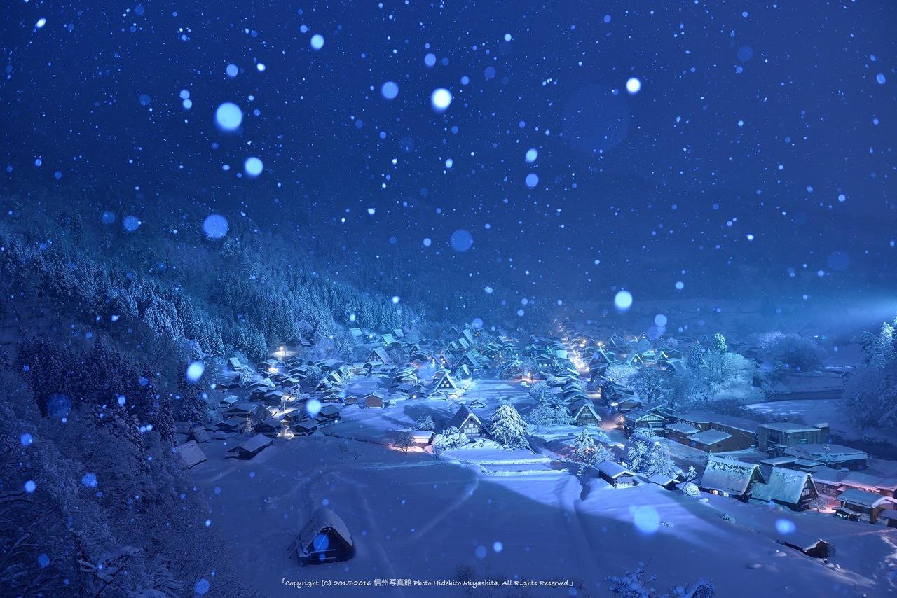 雪降る夜の郷