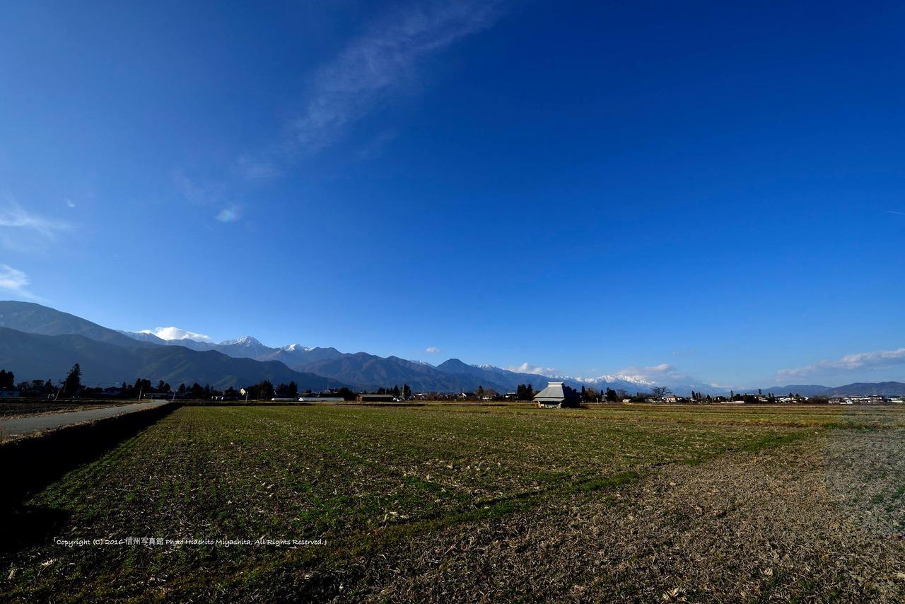 新春の安曇野