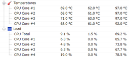 CPU温度Before