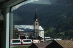Coop機関車と教会っぽい何か