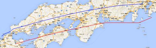 V-990_東京福岡GPS航路