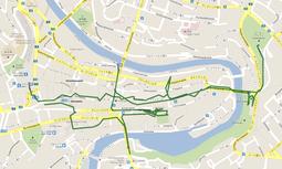GPS_ベルン市内散策