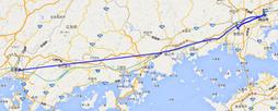 岡山広島のGPS軌跡