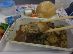 機内食ハンバーグ