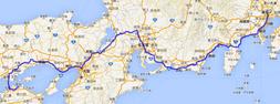 サンライズ瀬戸(東京~高松)のGPS軌跡