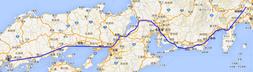 広島東京のGPS軌跡