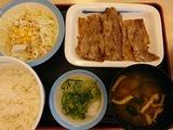 牛焼肉ラージ定食@松屋