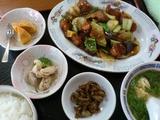鶏肉のピリ辛炒め定食@きし浦