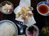 たこの天ぷら定食@安味