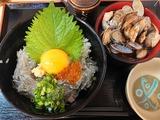 生しらす丼+あさり汁大@魚食堂たわら