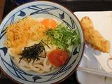明太釜玉大+かしわ天@丸亀製麺