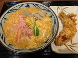 満福かに玉あんかけ+かしわ天@丸亀製麺