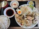 ホルモン天ぷら定食@ひろ