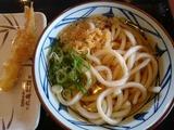 かけうどん+海老天@丸亀製麺