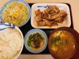 豚バラ焼肉L定食+豚汁@松屋
