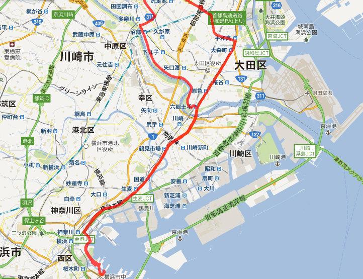 しおいんですけど : 横浜へのロングライドには第一、第二京浜どちらが ...