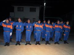 私たちの暮らしを守る!消防団日頃から訓練中。